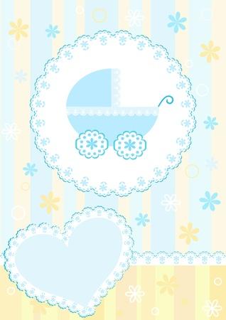 crib: Baby arrival card.