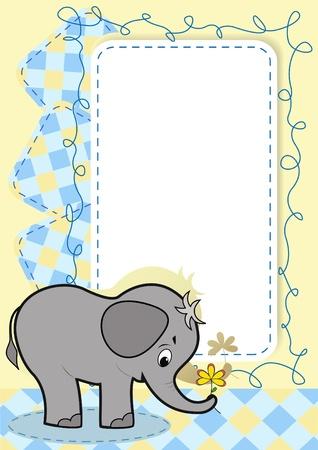 Baby elephant.  Vector
