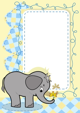baby elephant: Baby elephant.  Illustration
