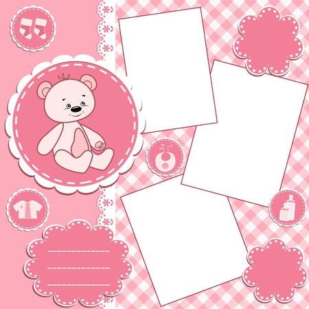Baby album page.