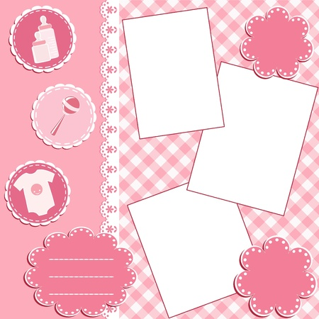 Baby album page. Stock Vector - 12485203