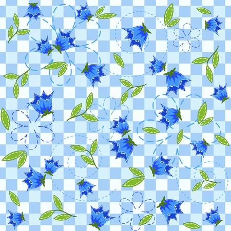bluebell: Blue seamless with bluebell.