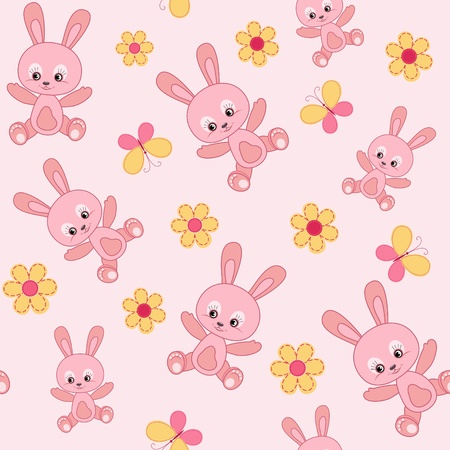 textile industry: Baby seamless with bunny.