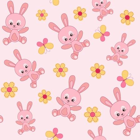 stria: Baby seamless with bunny.