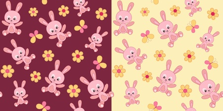 stria: Baby seamless with bunny.