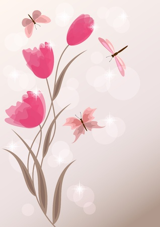 Floral background. EPS10. Vector