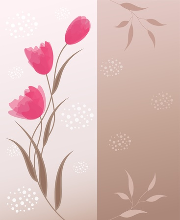 Floral background with place for your text. EPS10.  Vector