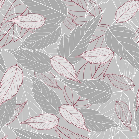 textile image: Seamless with leaves.