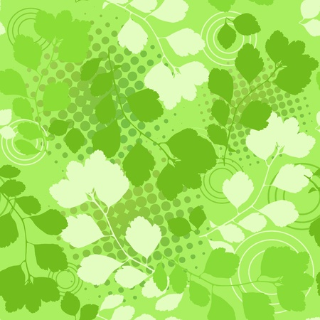 Green floral seamless. Stock Vector - 12485489