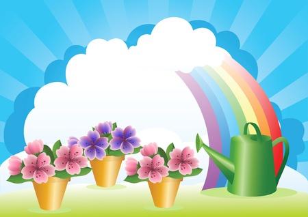 Floriculture. Flower growing. Stock Vector - 12485716