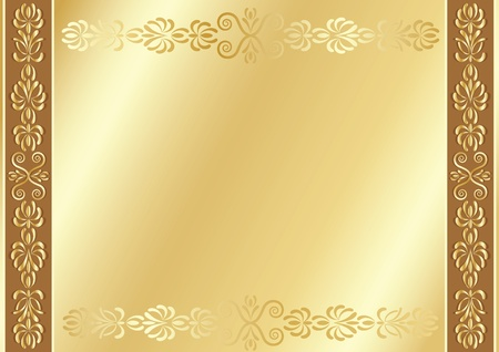 edging: Gold ornamental background with place for your text.
