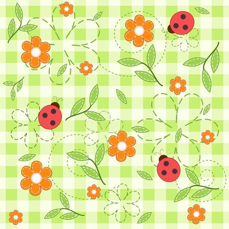 stria: Green baby seamless. Illustration
