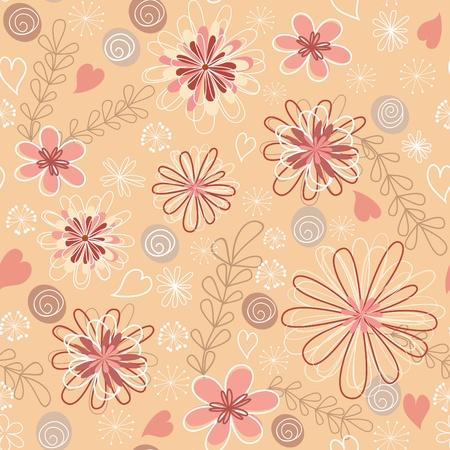 Roze bloemen naadloos.