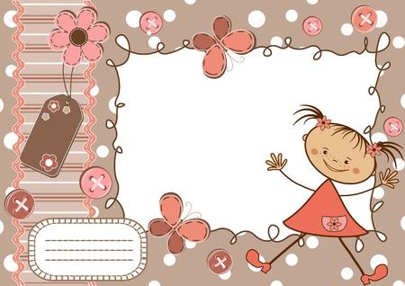 cute: Seite f�r Sammelalbum. Illustration