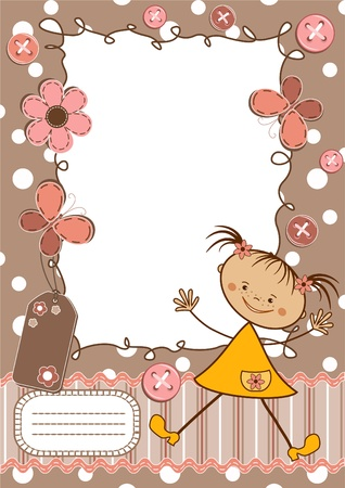 Page for scrapbook. Vector