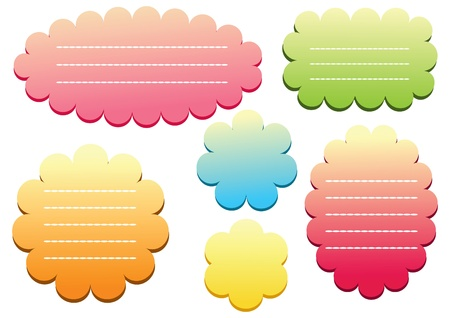 Labels. Set color tags. Stock Vector - 12484785