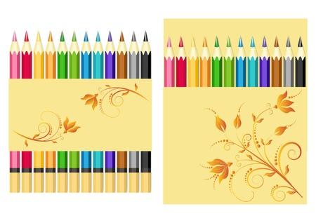 Ensemble de crayons de couleur.