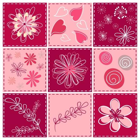 with sets of elements: Set floral design element.