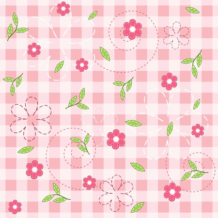 checkered wallpaper: Pink baby seamless.