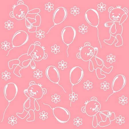 Seamless. Baby bears.  Vector