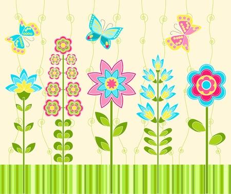 Floral ornament. Background.