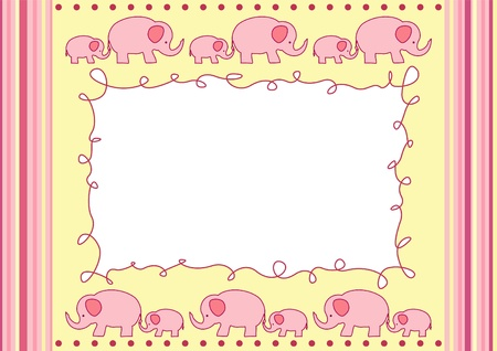 Baby greeting card with elephant Stock Vector - 12484791