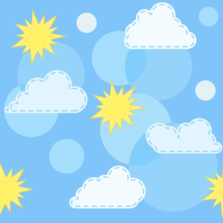 Blue pattern with cloud. Vector