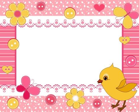 ducklings: Children`s frame. Chick.