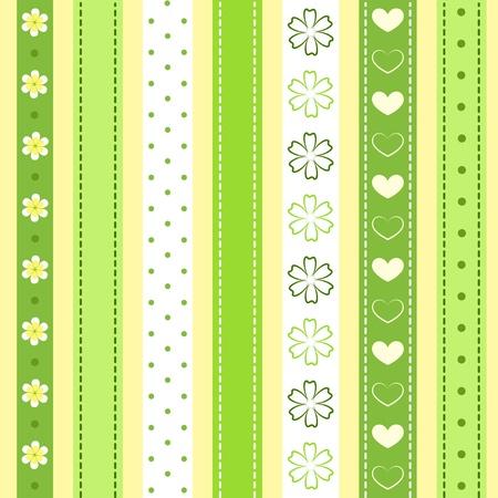 Set green ribbon.  Illustration