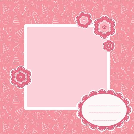 bebes recien nacidos: Patrón de bebé de color rosa. Vectores