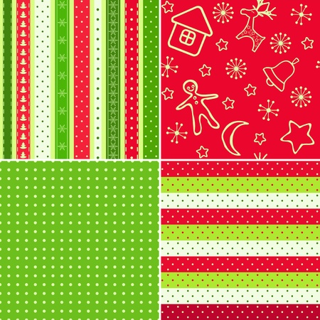 christmas wrapping paper: Red Christmas seamless.