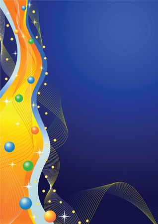 Abstract  background  Waves   Vector