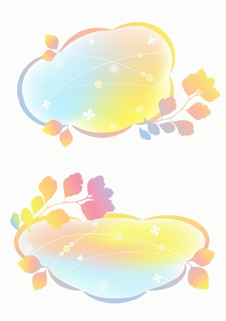 pastel backgrounds: Airy pastel backgrounds  Illustration