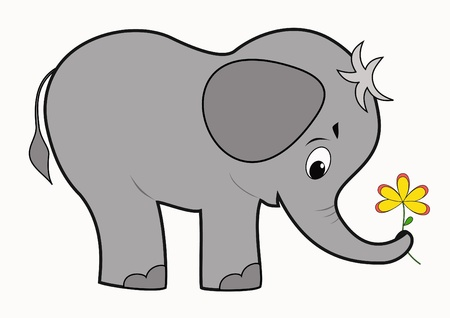elefantes: Divertido bebé elefante Vectores