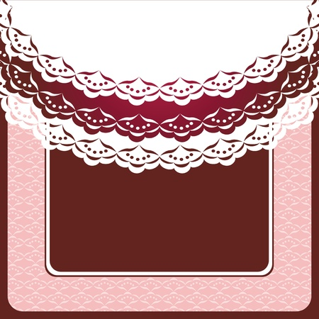Album page for scrapbook with doily   Vector