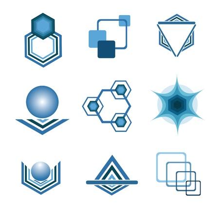 Resumen de elementos geom�tricos Foto de archivo - 12487088