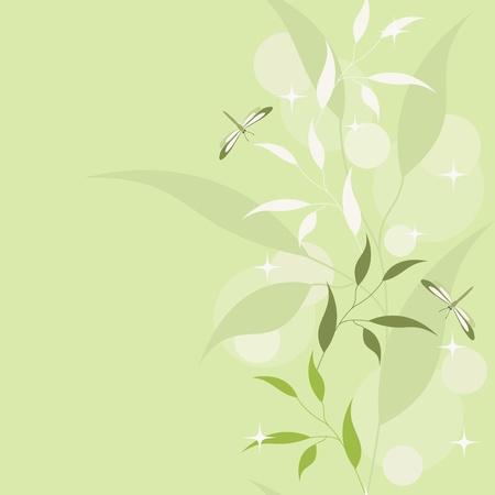 stria: Green floral seamless