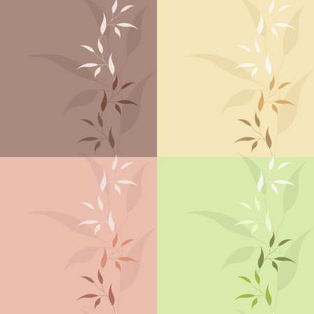Set floral seamless   Vector