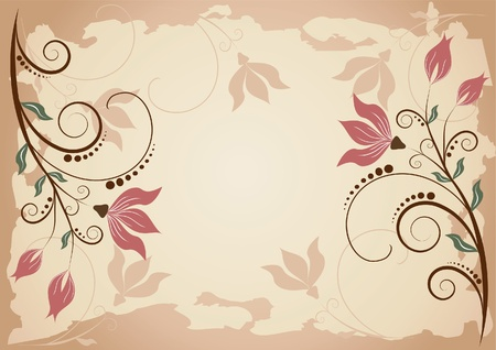 Floral background   Abstract design  Vector