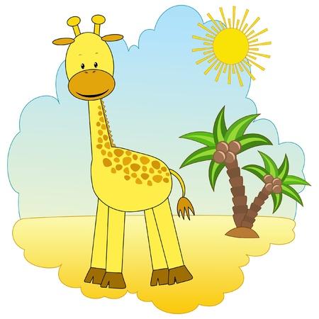Joy giraffe  Baby  Vector