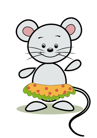 Funny mouse   Cartoon   Stock Vector - 12486742