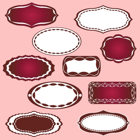 lace edges: Frames collection for scrapbook