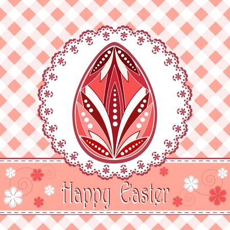 congratulation card: Congratulation card  Happy Easter Illustration