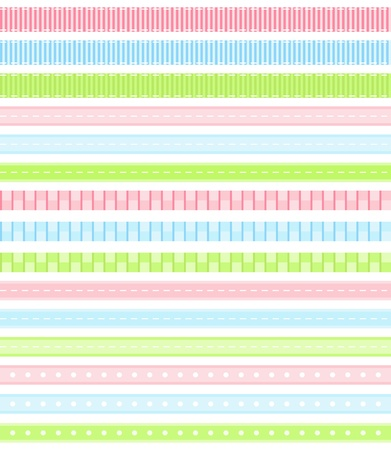 Pastel ribbon collection  Stock Vector - 12487647