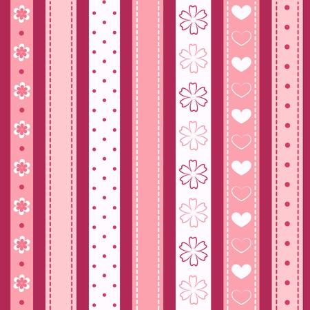 Set pink ribbon  Vector
