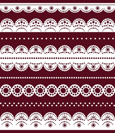 Collection white lace Stock Vector - 12487660