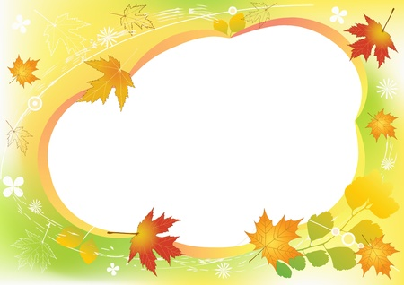 autumn grunge: Autumn background with place for your text