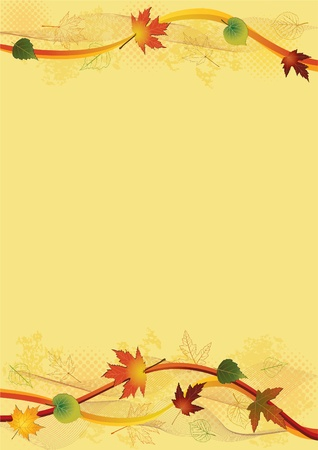 autumn leaf frame: Autumn background