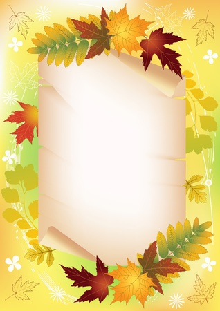 Autumn background with place for your text   Illustration