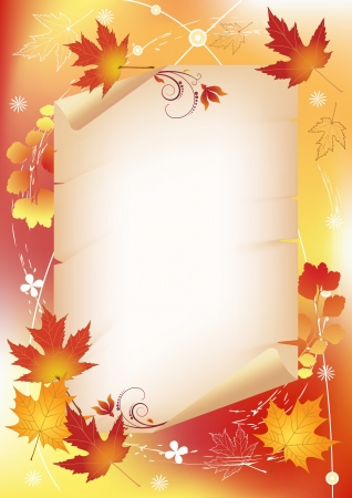 Autumn background with place for your text Vector